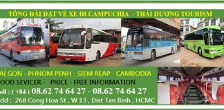Vé xe đi Campuchia khởi hành hàng ngày