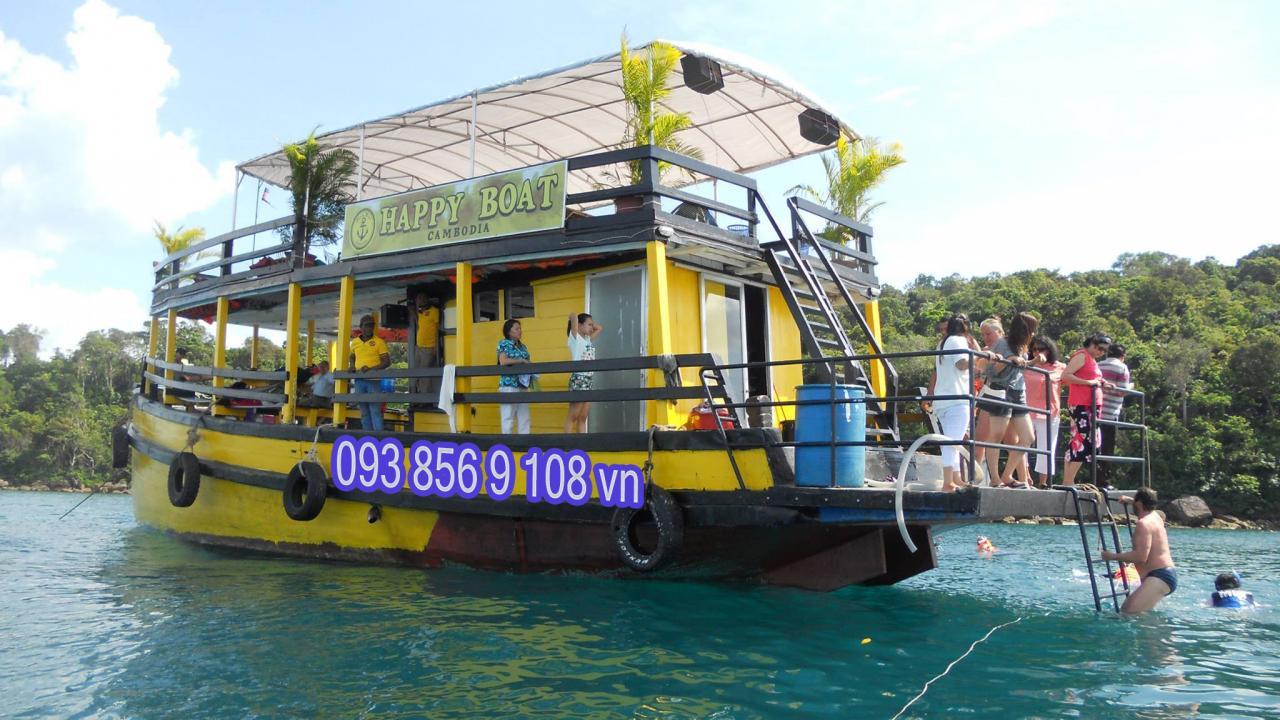 lich tham quan sihanoukville tau happyboatcambodia - Lịch trình tham quan tàu happy boat cambodia từ sihanouk ville