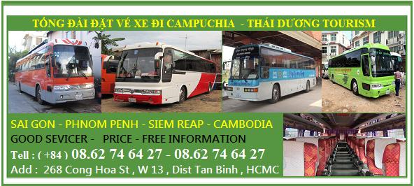 ve xe di campuchia - Vé xe đi Campuchia hàng ngày